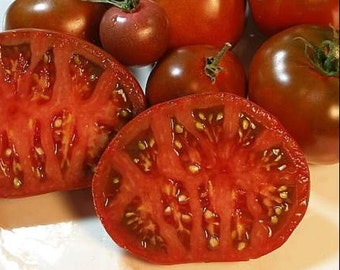 Heirloom Tomato- CARBON- 80 day BLACK Indeterminate- 25 seeds