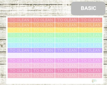 B44 Header TO CLEAN, perfect for any Planner