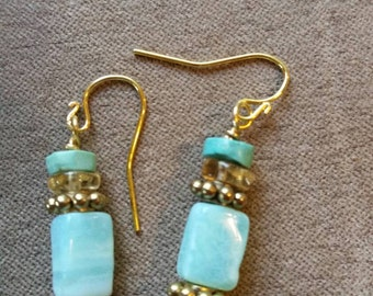 Opal, citrine, turquoise, gold