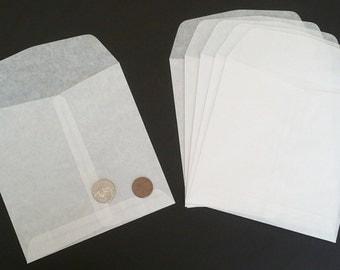 "5.5""x5.5"" Glassine Envelopes for Scrapbooking, Tickets, Mementos, Confetti, etc"