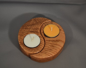 Yin and Yang Candle Holder
