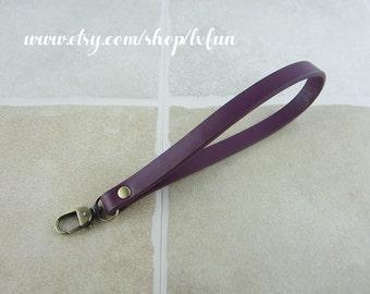 Purple Leather Strap Coin Purse Strap