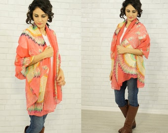 Oversized Spring Scarf/Feather Scarf/Summer Sarong