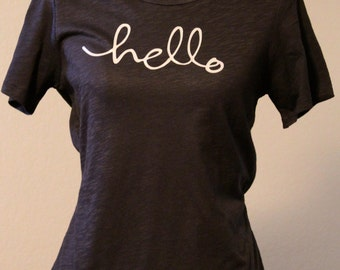Hello t-shirt shirt for women, Hello tee women's, Hello Shirt, Women's Hello T shirt, Hello Tee, Hello