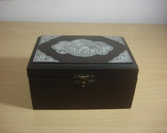 Thai handmade wooden box