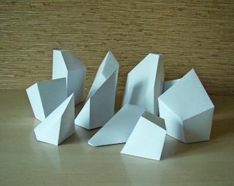 Cube puzzle / 3d papercraft puzzle printable DIY PDFtemplate