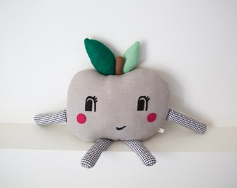 Cuddly toy 'Pippin Apple' grey