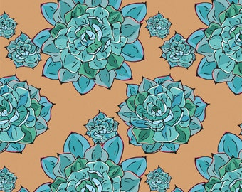 Elegant Wrapping Paper - Blue Succulents