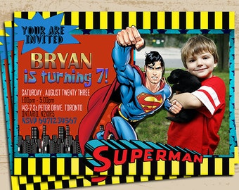 Superman Invitation with photo