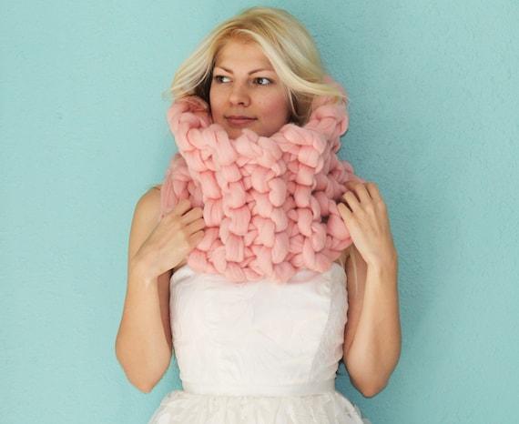 Merino nekonečno šátek, Chunky šátek, Chunky plést šátek Infinity šály, pletené šály, pletené šály, Chunky pletené šály, šály, vlny šátek