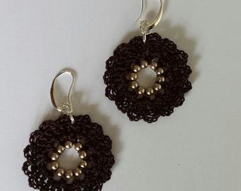 """Earrings """"rose window"""" variation """""""