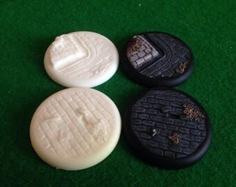 Warmachine wargame bases 50ml resin cobble stone