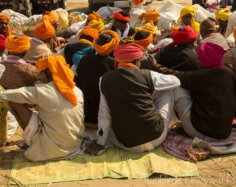 Photograph - Digital, Colour, India, Allahabad, Kumbh Mela, Ganges River, Pilgrimage, Colourful, Spiritual, Gathering, Fabric, Single Print