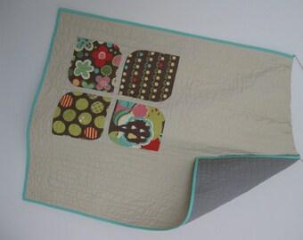 Ready to ship! -Modern Quilt - Baby Quilt - Toddler Quilt - Asymmetrical Quilt - Wheelchair Quilt - Modern Blanket – Play Mat