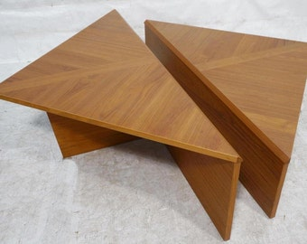 Two Piece Bi-Level Danish Modern Teak Coffee Table