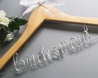 SALE Bridesmaids hangers, Wedding hangers, Custom hanger, Personalized hanger, Bride hanger, Bridal party hangers, Wire hangers