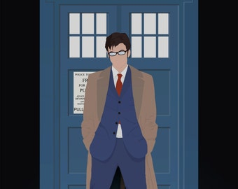 10th Doctor and His TARDIS