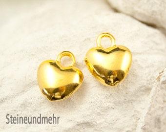 2x Heart Bulge gilded art. 3431