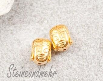 2 x Buddha bead gold plated art. 2104