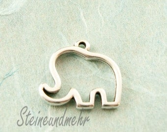 1 x trailer elephant silver plated 19mm type. 2138