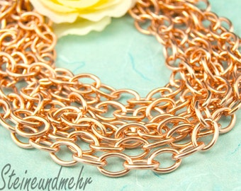 100cm chain large rose gold plated art. 2552