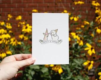 Postcard : Happiest of birthdays.