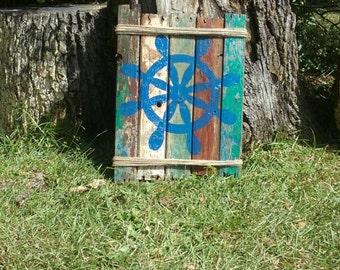 Blue Ship Wheel