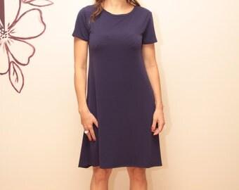 Dark Purple Dress /  Short Dress