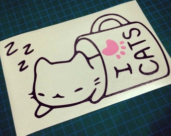 Kawaii Kitty Cat Vinyl Decal