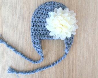 Baby Girl Hat - Baby Girl Knit Hat - Knit Newborn Hat - Baby Winter Hat - Girl Hat Baby -Hat Baby Girl