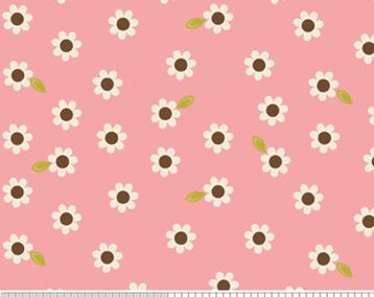 Riley Blake Indian Summer Small Daisy in Pink - 1 yard