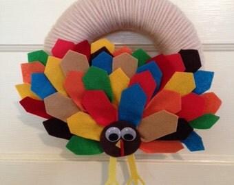 "Foam Wreath, 10"", Thanksgiving Wreath, Fall Wreath, Autumn Wreath"