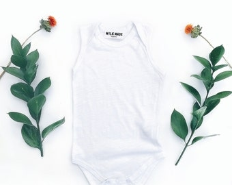 Organic Jersey Baby Onesie Bodysuit | Organic Baby Newborn Onesie | Baby Girl Baby Boy Onesie | Organic Baby Clothing | Baby Bodysuit Gift