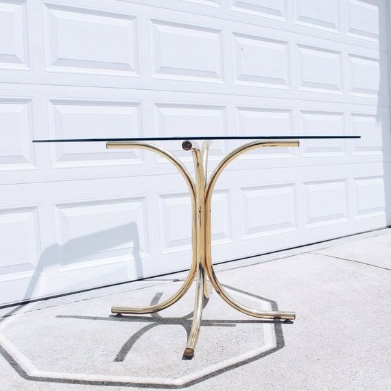 Brass Glass Dining Table Octagon Glass Top Table Brass Base : il570xN998850800b8wf from www.etsy.com size 570 x 570 jpeg 52kB
