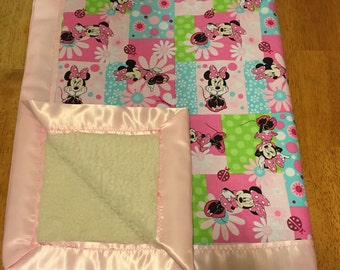 Minnie Mouse Newborn Blanket