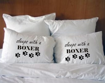 Sleeps with a Boxer PillowcasesStyle #29