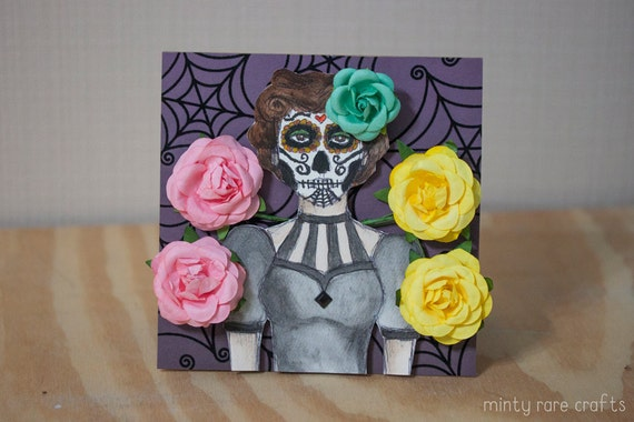 Day of the Dead Mistress Halloween Card