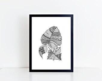 Wild Leaves Print   Wall Art Print