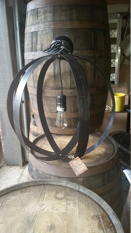 Whiskey Barrel Ring Orbital Chandelier Light Fixture