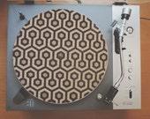Cork Record Player Slipmat With Laser Etched Shining Carpet Design