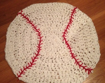 Baseball Crocheted Rug
