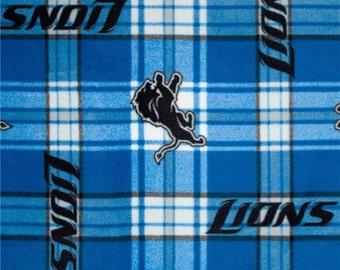 NFL Detroit Lions Hand Tied Fleece Blanket
