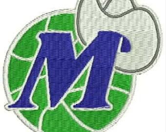 Mavericks Embroidery Design