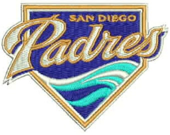 San Diego Padres Embroidery Design