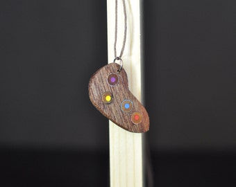 Mahogany Necklace accented with Couloured Pencils
