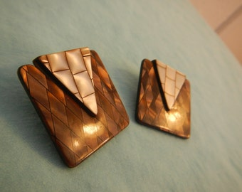 Vintage Post Earrings