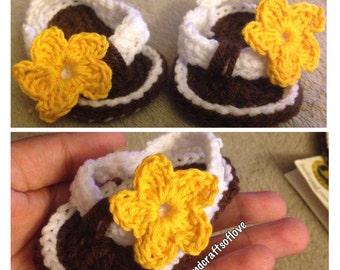 Crochet Baby Flip Flops/Sandals