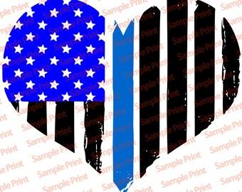 SVG/PNG American Flag - Grunge Heart SVG Design   Instant Download