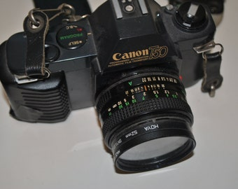 Vintage Canon T50 35mm Camera with extras