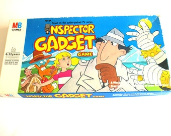 Vintage Inspector Gadget Board Game - Rare 1983 Collectable Milton Bradley Game - Collectible Cartoon Games Toys - Complete